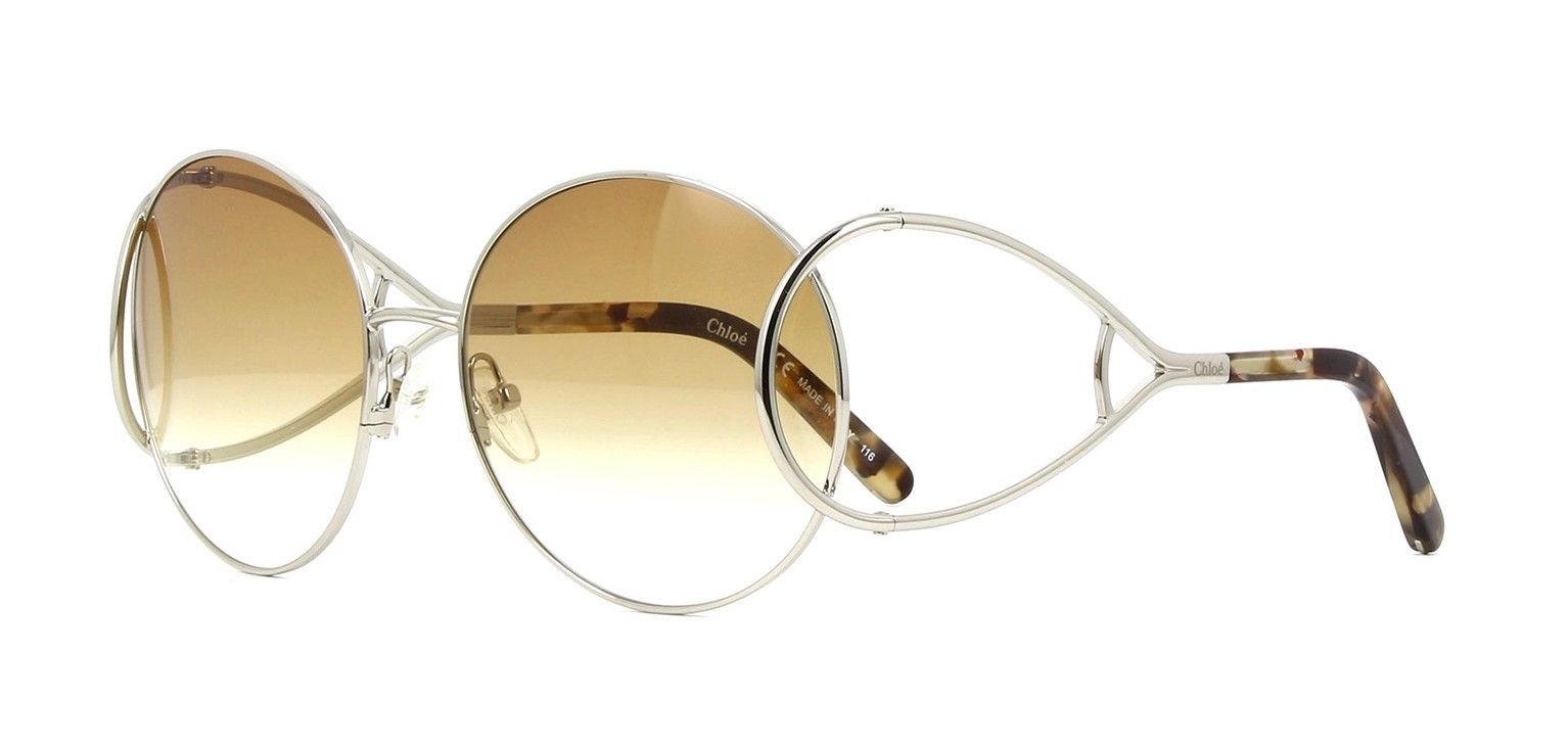 Chloe CE124S 043 Silver/Brown Marble Coloured Sunglasses for Women