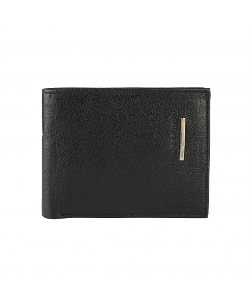 Azzaro 100% Real Leather Men's Wallet - Black Glam