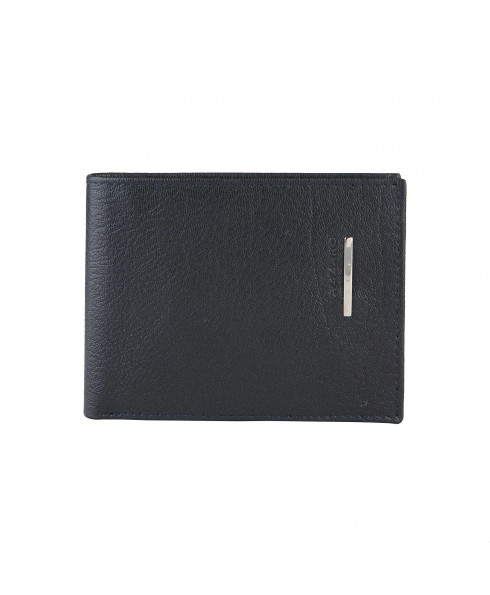 Azzaro Leather Wallet - Navy Blue