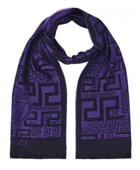 Versace Collection 100% Wool Scarf – Purple