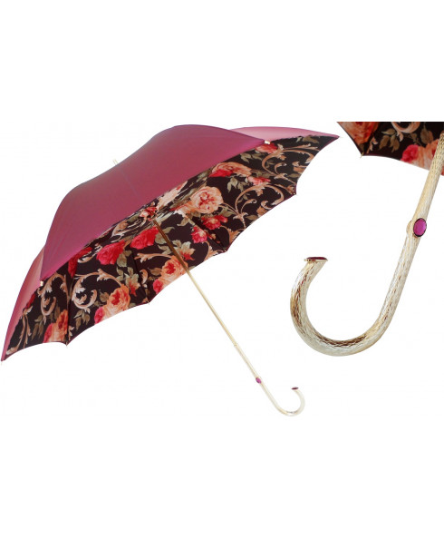 Pasotti Burgundy Vintage Umbrella
