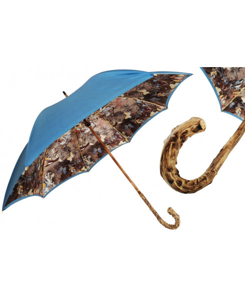 Pasotti Nature Umbrella With Broom Wood Handle, Double Cloth