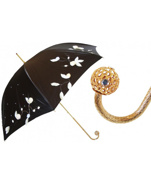 Pasotti Luxury Hand Embroidered Umbrella, Double Cloth