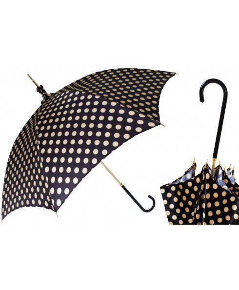 Pasotti Manual Polka Dot Parasol Rainproof