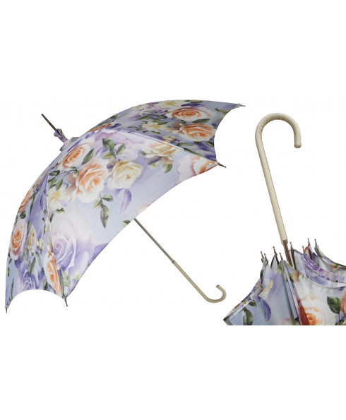 Pasotti Manual Flowered Parasol Rainproof