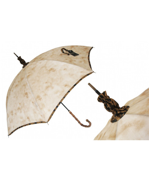 Pasotti Manual Sponge Painted Parasol Rainproof
