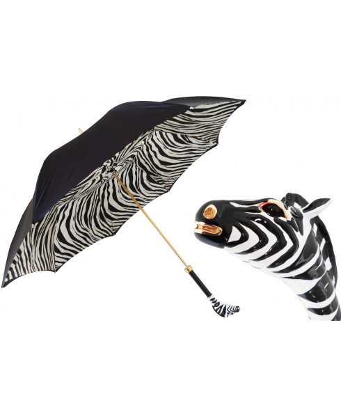 Pasotti Women Enameled Zebra Umbrella