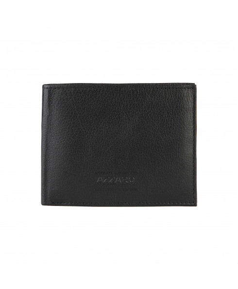 AZZARO 100% leather Men's Wallet Black Marion