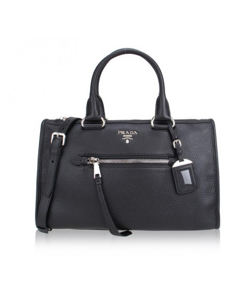 Prada Vitello Phoenix Shoulder Bag - Black
