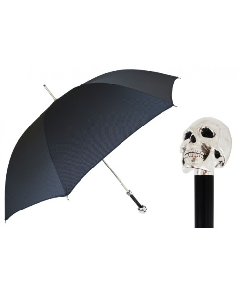 Pasotti Umbrella with Silver Skull Handle