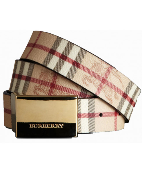 BURBERRY SPRNGFLD HAYMARKET CHECK BELT
