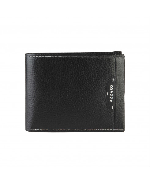 AZZARO 100% leather Men's Wallet Black Superior
