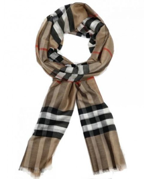 Burberry Unisex Silk & Wool Scarf
