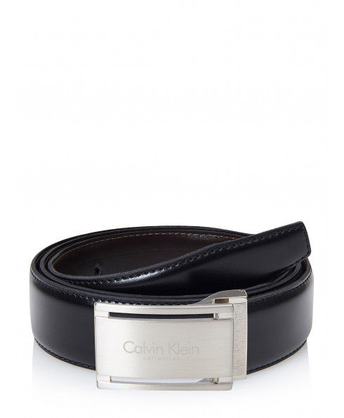 Calvin Klein Collection Leather Belt with Cut Out Buckle - SU31CK0007 D22
