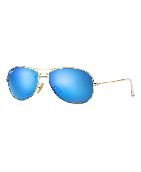 Ray-Ban 'Aviator' Sunglasses - Gold, Blue Lenses - Size 59