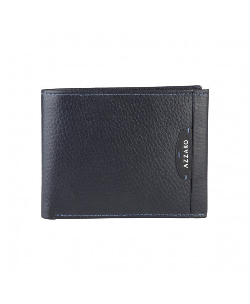 Azzaro Leather Wallet - Dark Navy