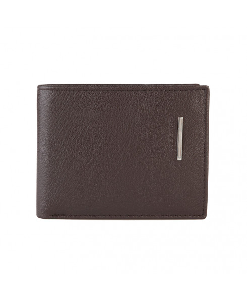 Azzaro 100% leather Men's Wallet - Dark Brown