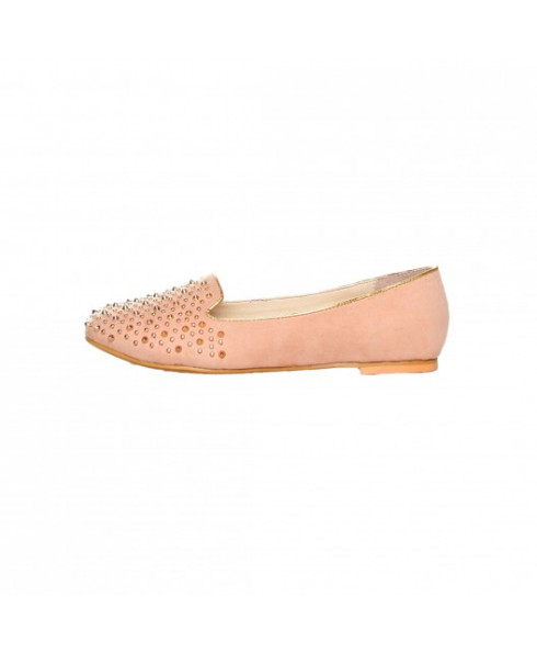 Ana Lublin Beige and Gold Ballet Flats