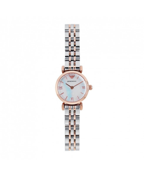 Emporio Armani Mother of Pearl Dial Two Tone Stainless Steel Ladies Watch AR1764