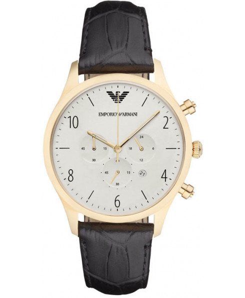 Emporio Armani Men's Gold Plated Watch - Brown/Gold