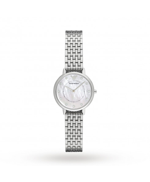 Emporio Armani Ladies Mother Of Pearl Stainless Steel Bracelet Watch AR2511