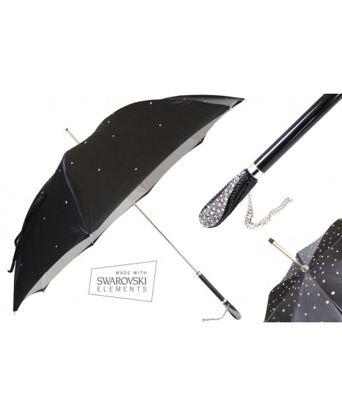 Pasotti Women Manual opening Double cloth Swarovski umbrella