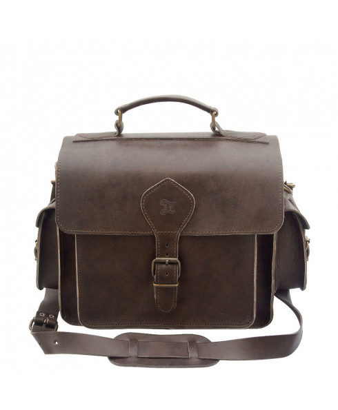 Grafea 100% Leather Camera Bag - Brown