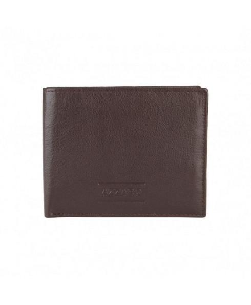 Azzaro Leather Wallet - Chocolate Brown