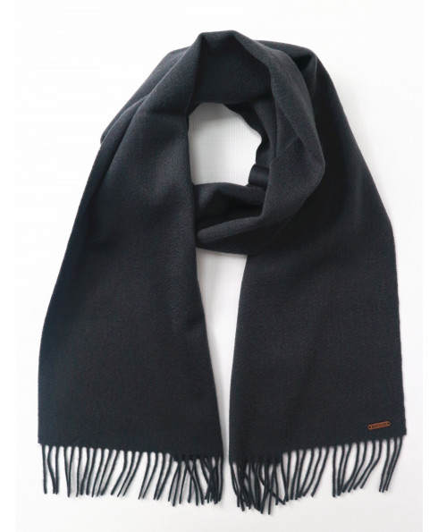 Hortons England 100% Lambswool 'Oscar' Scarf - Charcoal