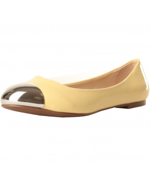 Gas Ballet Flats Patent Yellow/Silver - 37