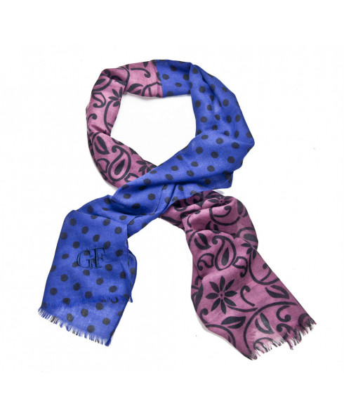Ferre 100 % Wool Scarf - Blue/Purple