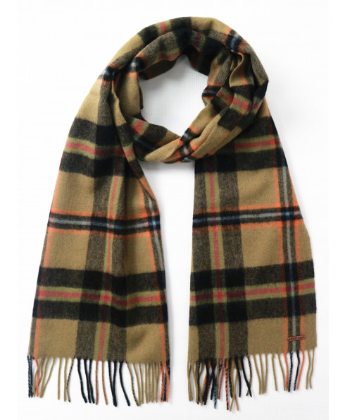 Hortons England 100% Lambswool 'Hexham' Scarf - Black Check