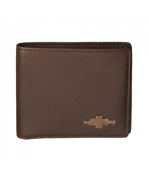 Pampeano 100% Leather Dinero Card Men'sWallet – Brown with Brown Diamond