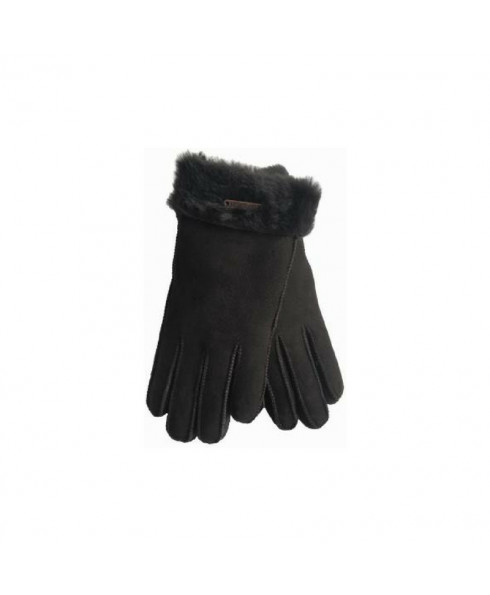 Hortons England Richmond Sheepskin Gloves -  Dark Brown