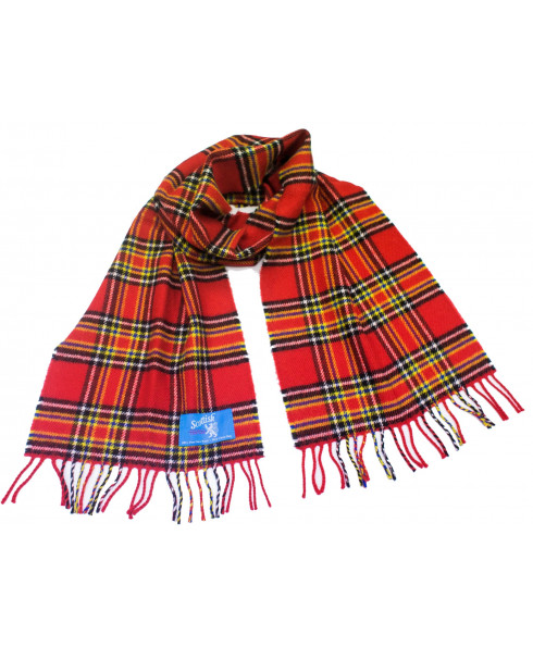 House of Edgar 100% Lambswool Scarf in Inverness Modern Pattern