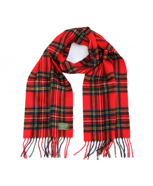 Glencroft 100% Pure New Wool Tartan Scarves - Royal Stewart