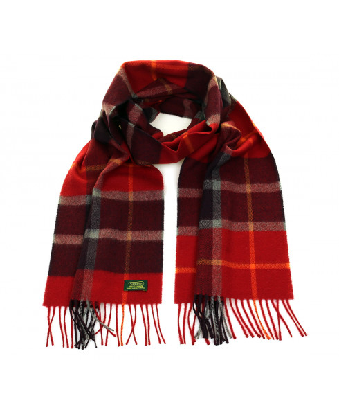 Glencroft 100% Cashmere Premium Scarf - Yorkshire Dales (Red/Wine)