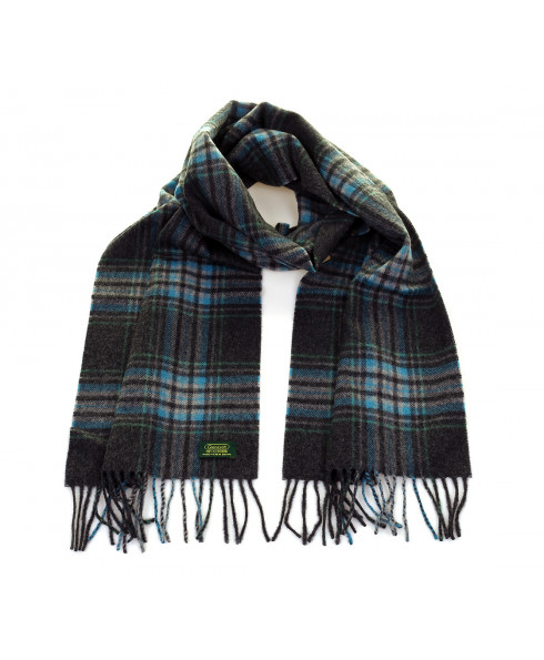 Glencroft 100% Cashmere Premium Scarf - Yorkshire Dales (Grey/Blue)