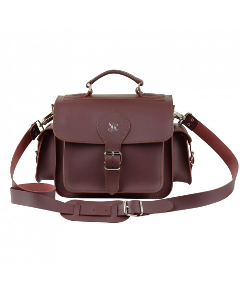 Grafea 100% Leather Camera Bag - Burgundy