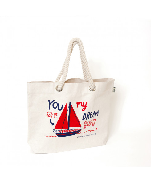 Talented LOVE AHOY Beach Bag- 'You are my Dreamboat'
