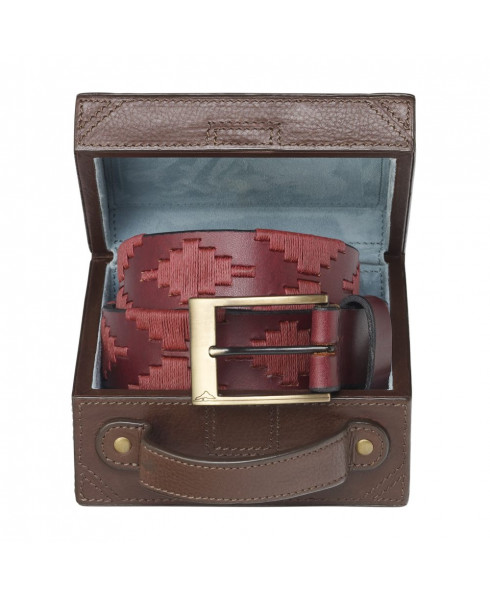Pampeano Vino Polo Belt with Luggage Trunk Gift Box