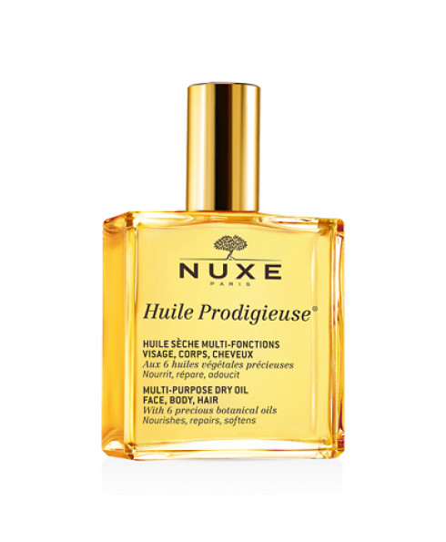 Nuxe Huile Prodigieuse Multi-Purpose Dry Oil for Face, Body and Hair - 100ml
