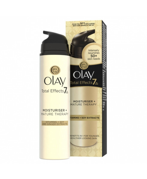 Olay Total Effects Vitamins and Soy Extracts 7in1 Mature Therapy Moisturiser - 50ml