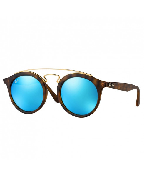 Ray-Ban Gatsby Sunglasses with Turquoise Lenses - Tortoise Shell