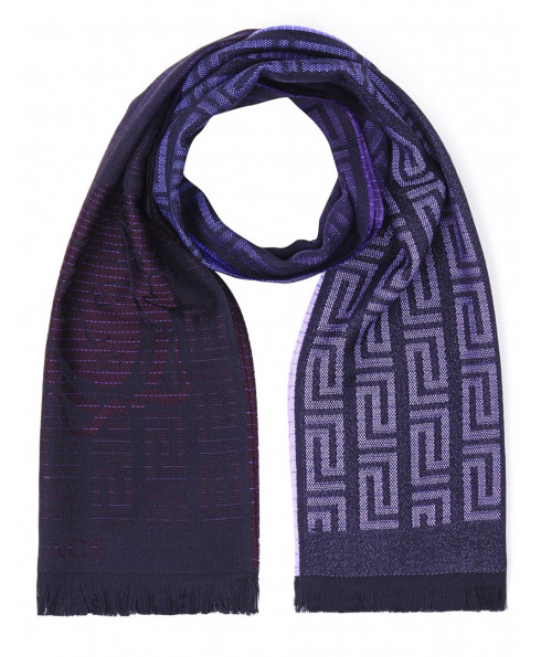 Versace Wool Scarf - Purple
