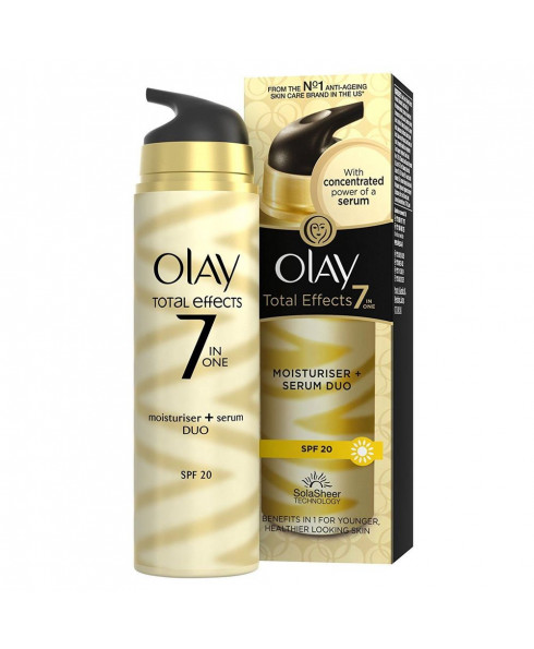 Olay Total Effects 7 in1 Anti-Ageing Moisturiser and Serum Duo - 40ml