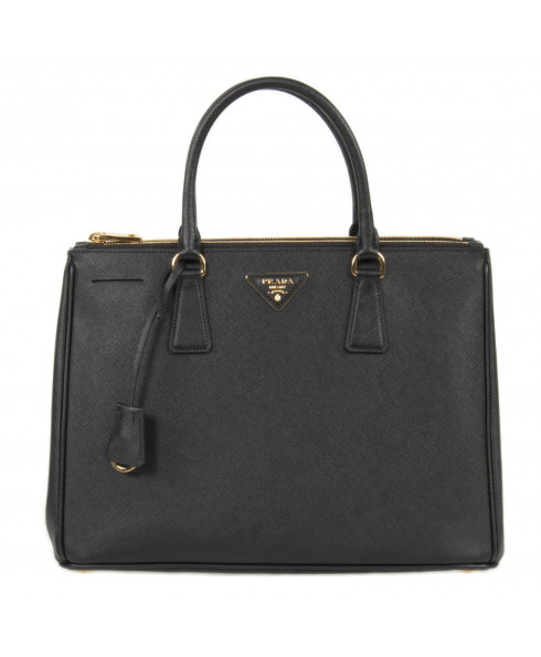 Prada Galleria Saffiano Lux Leather Bag - Black