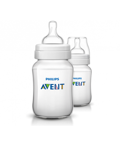 Philips Avent Classic Baby Bottle Two Pack - Clear