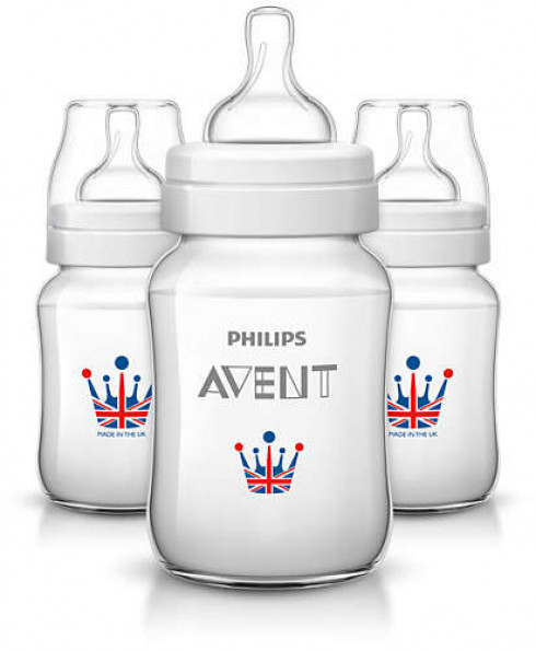 Philips Avent Classic British Print Baby Bottle Triple Pack