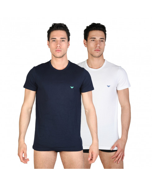 Armani Men's T-shirt Two Pack - Blue and White